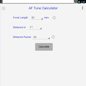 AF Tune Calculator