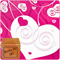 Pink Love Heart Sparkle LWP icon