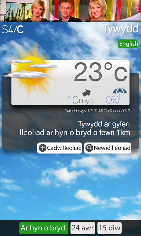 Tywydd S4C Weather - screenshot