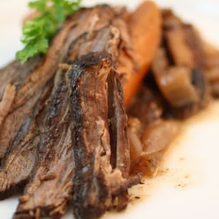 Brisket in Coffee Brandy Sauce