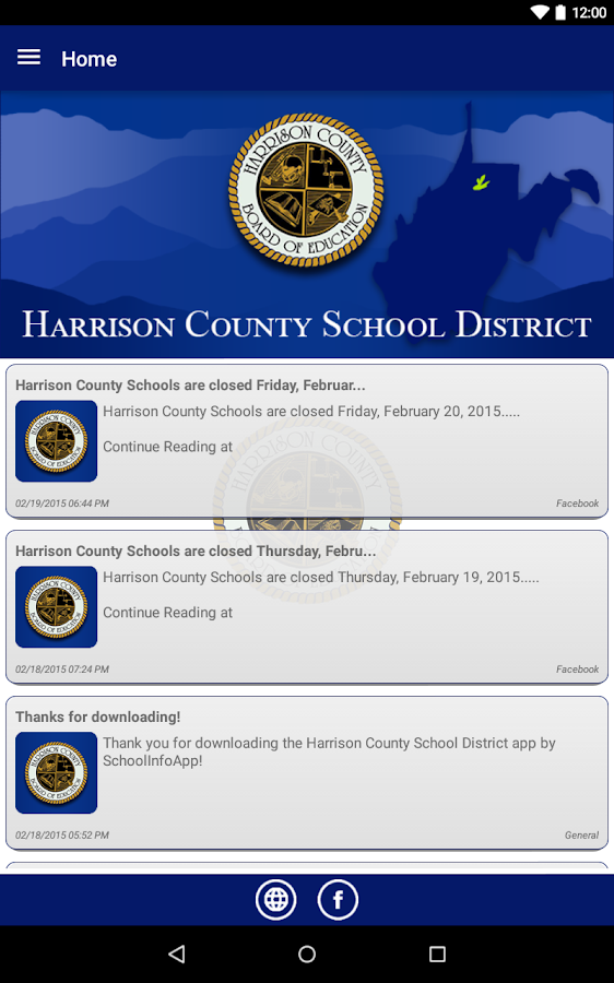 Harrison County Schools- screenshot