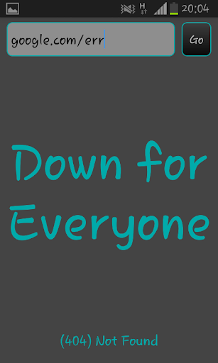 【免費生產應用App】Down for Me or Everyone-APP點子