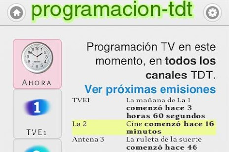Programacion TDT (TV) España- screenshot thumbnail