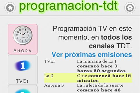 Programacion TDT (TV) España- screenshot