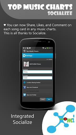 【免費音樂App】Top Music Charts for Android-APP點子