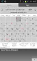Screenshot of Misri Calendar (Hijrical)