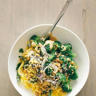 Spaghetti Squash Noodle Bowl + Lime Peanut Sauce.