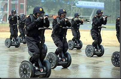 Chinese Anti Terror Unit Use Segways… Wait, What