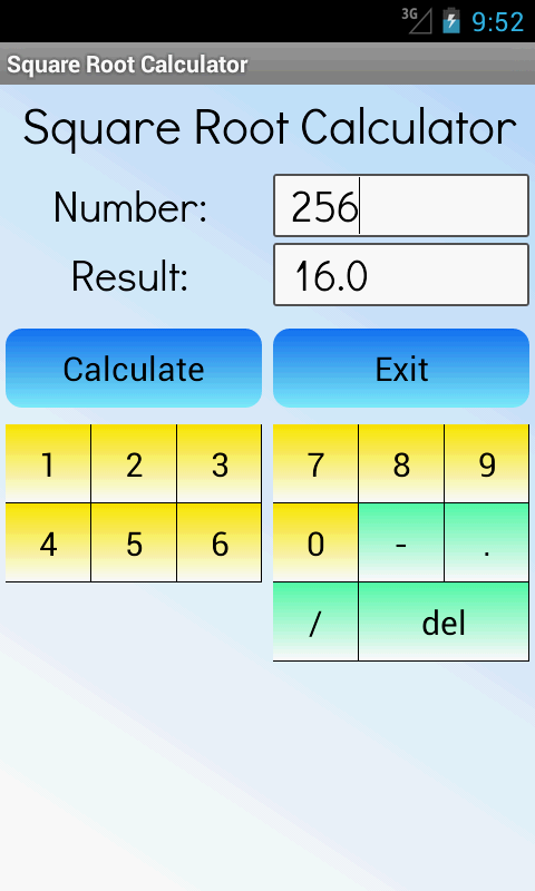 Square Root Calculator - screenshot