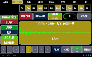 Screenshot of Cadeli Drum Machine