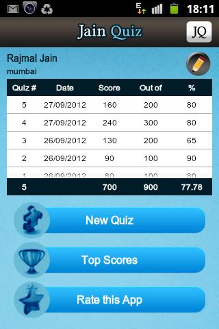 Jain Quiz - screenshot
