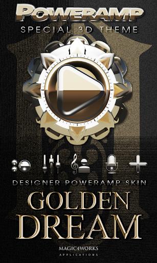Poweramp skin Golden Dream