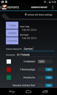 My Pain Diary - screenshot thumbnail
