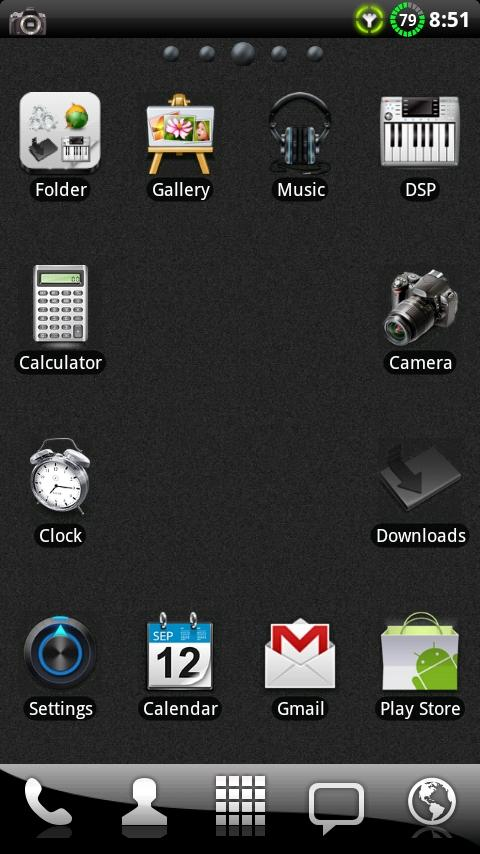 BIG ICONS Pack GO Theme- screenshot