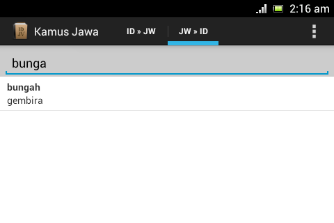 Javanese Dictionary- screenshot