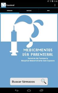 Medicamentos vía parenteral