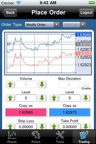 Templer FX MT4 droidTrader - screenshot