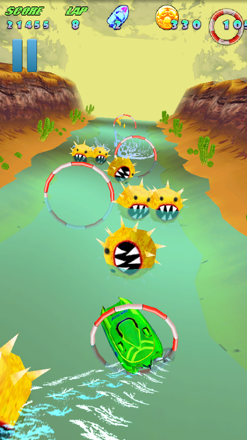 Turbo River Racing Free - screenshot