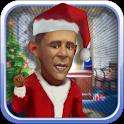 Talking Obama-Santa icon