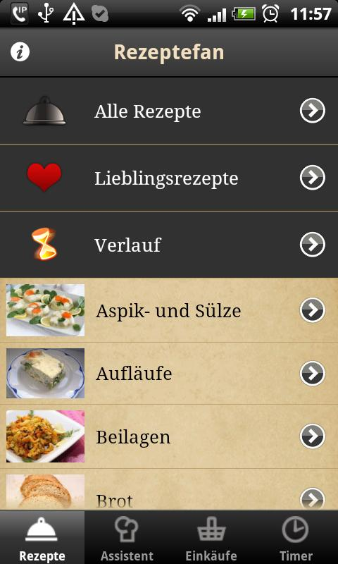 Rezeptefan- screenshot
