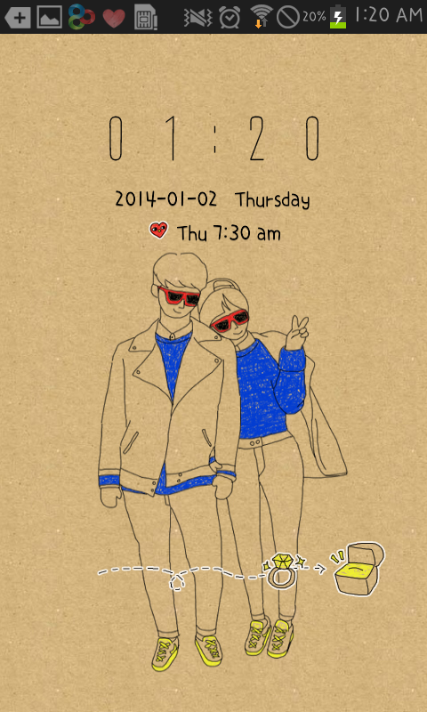 Autumn Couple go locker theme - screenshot