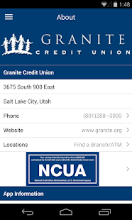 Granite CU Mobile Banking - screenshot thumbnail