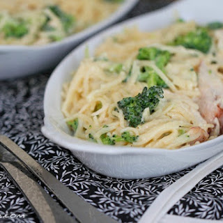 Stovetop Broccoli and Cheese Chicken Pasta.