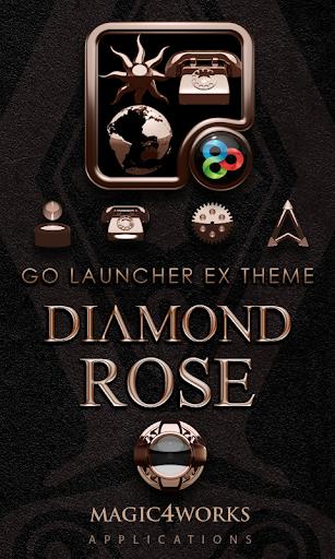 GO Launcher Theme Diamond Rose