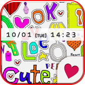 Cute wallpaper★Pop font
