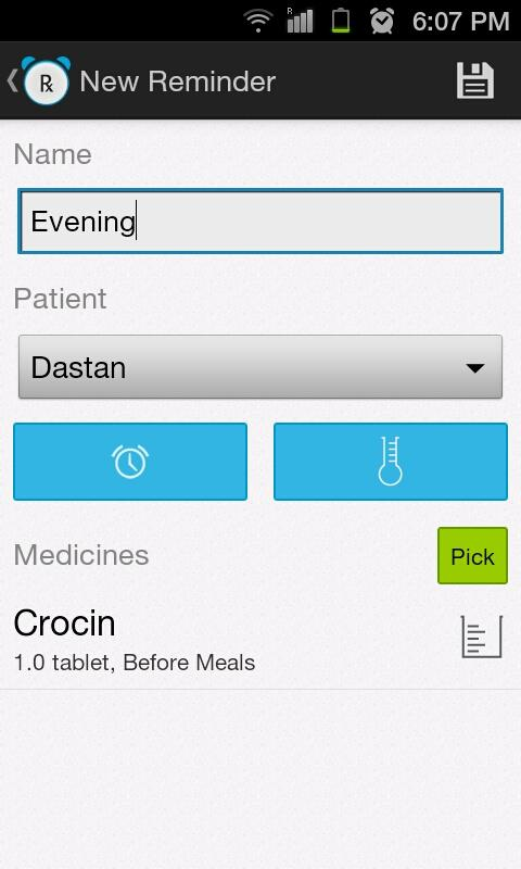 Rx Medicine Reminder - screenshot