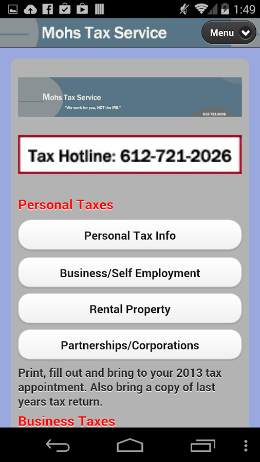 Mohs Tax Service- screenshot