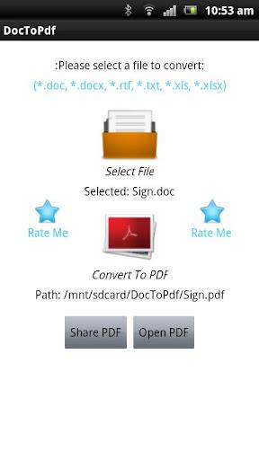 【免費商業App】Doc To Pdf Pro-APP點子