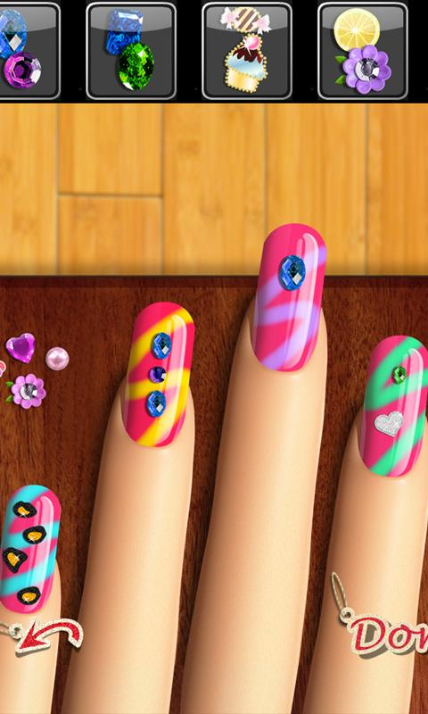 Nail games top girls makeup and makeover salon android for A nail salon game
