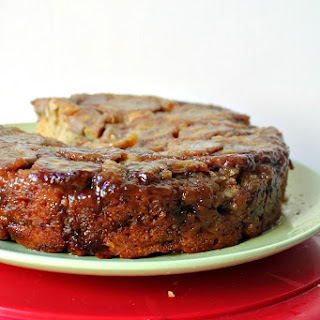 Caramelized Banana Upside-Down Rum Cake for #SundaySupper