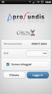 Chronox Tidrapportering- screenshot thumbnail