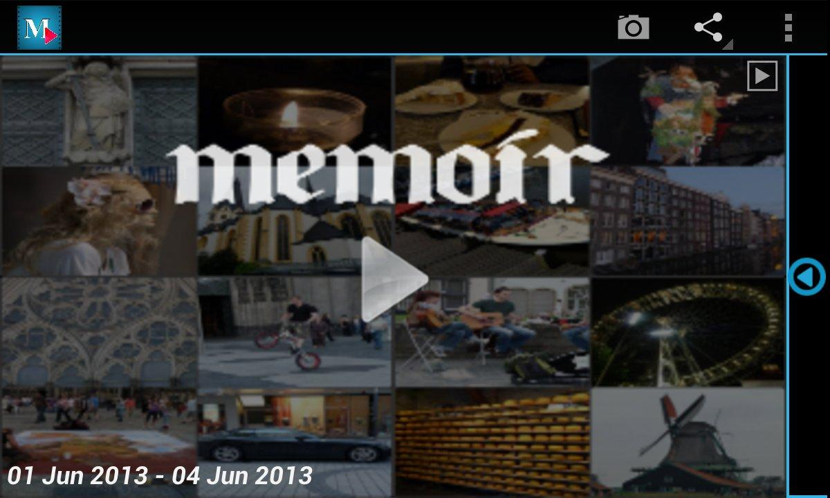 Memoir -Everyday video collage - screenshot