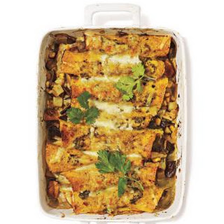 Shiitake Mushrooms and Potato Enchiladas