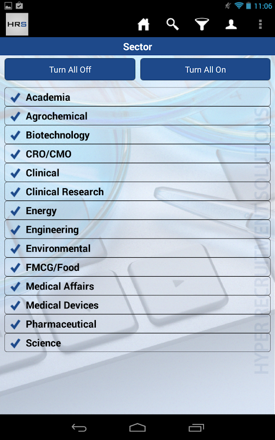 HRS - Science Jobs- screenshot