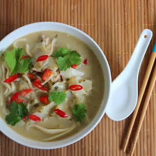 Thai Green Curry Noodle Soup.