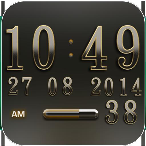 Digi Clock Widget Iridium APK Cracked Download