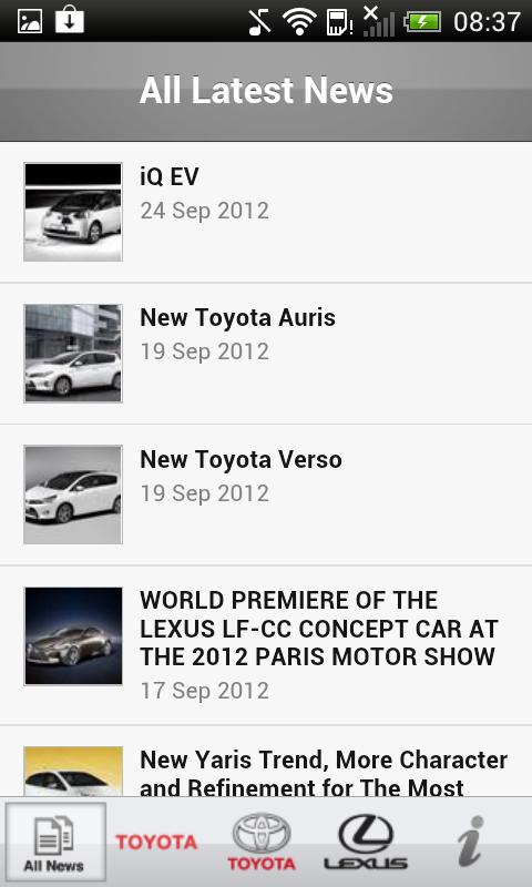 Toyota Europe Newsfeed - screenshot