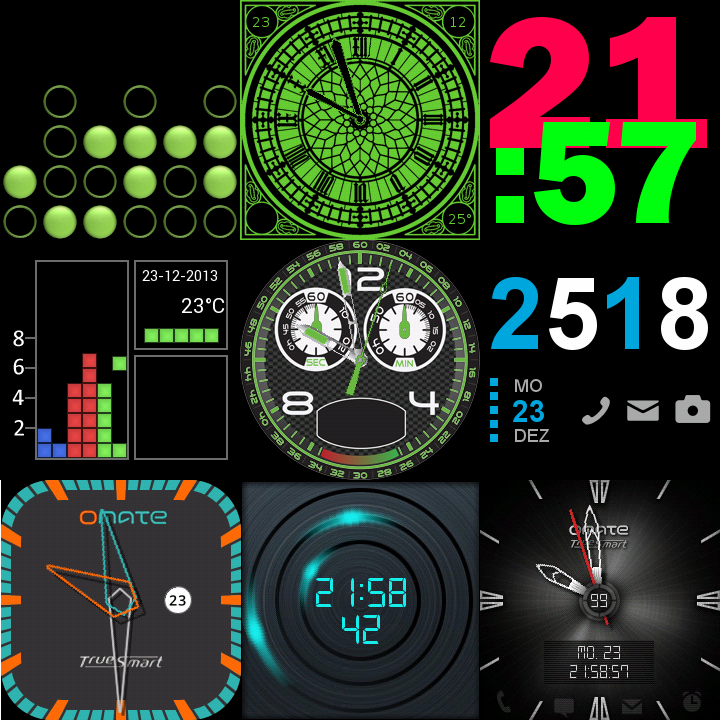 27 Watch faces for Wear & Sony- screenshot