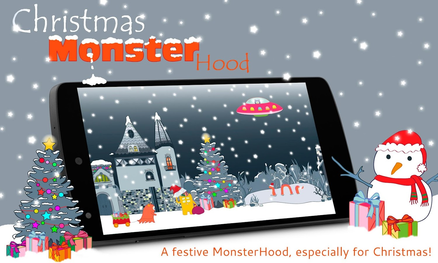Christmas MonsterHood LWP- screenshot
