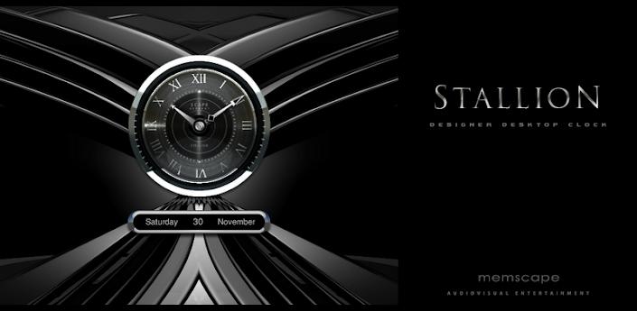 Stallone Designer Clock Widget v2.07