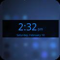 Blue Transparent Digital Clock icon