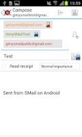 Screenshot of SMail - Secure Email