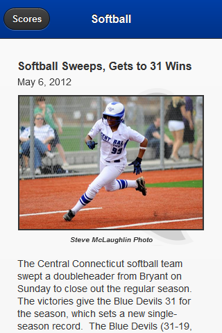 CCSU Athletics - screenshot