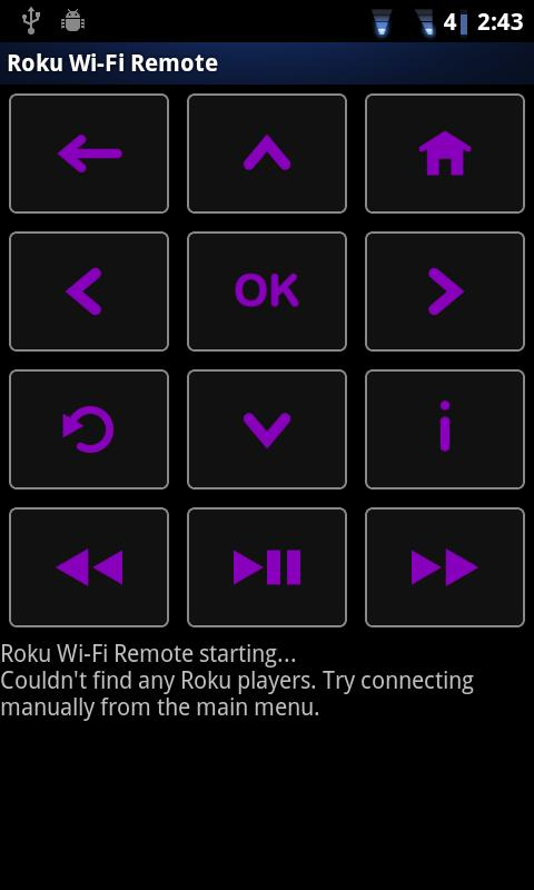 Rfi pro! remote for Roku- screenshot