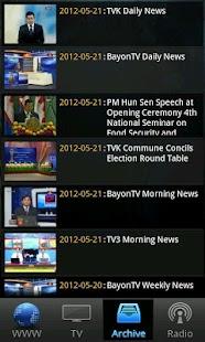 Khmer Live TV and Radio- screenshot thumbnail