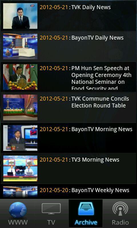 Khmer Live TV and Radio- screenshot